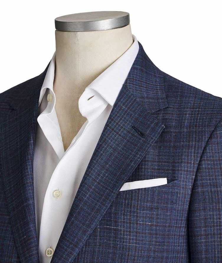 Milano Easy Checked Cashmere, Silk & Linen Sports Jacket image 1