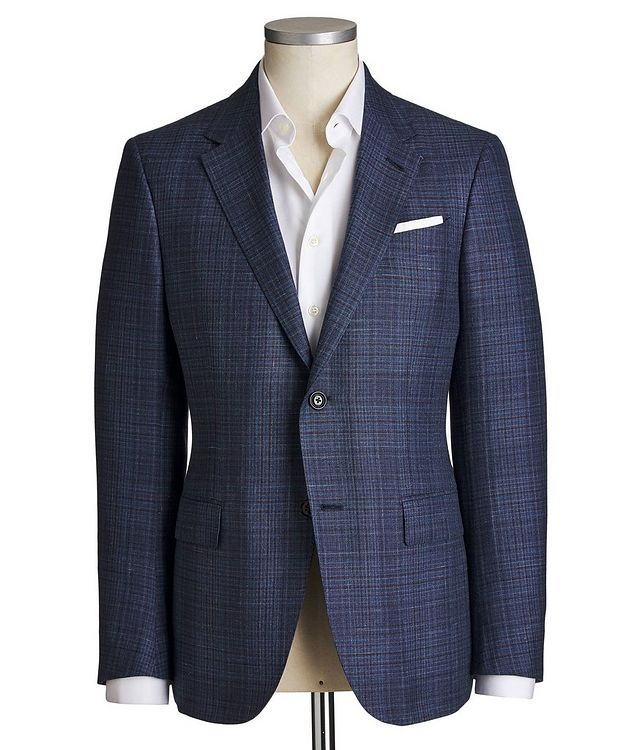 Milano Easy Checked Cashmere, Silk & Linen Sports Jacket picture 1