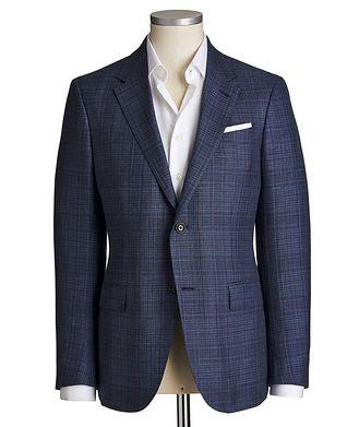 Ermenegildo Zegna Milano Easy Checked Cashmere, Silk & Linen Sports Jacket