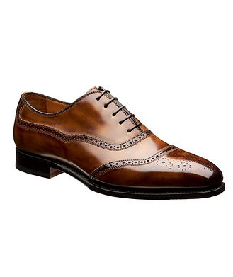 Bontoni Embossed Cap-Toe Leather Oxfords