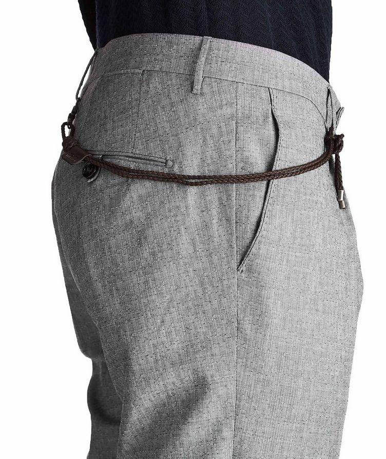 Slim Fit Textured Dress Pants image 2