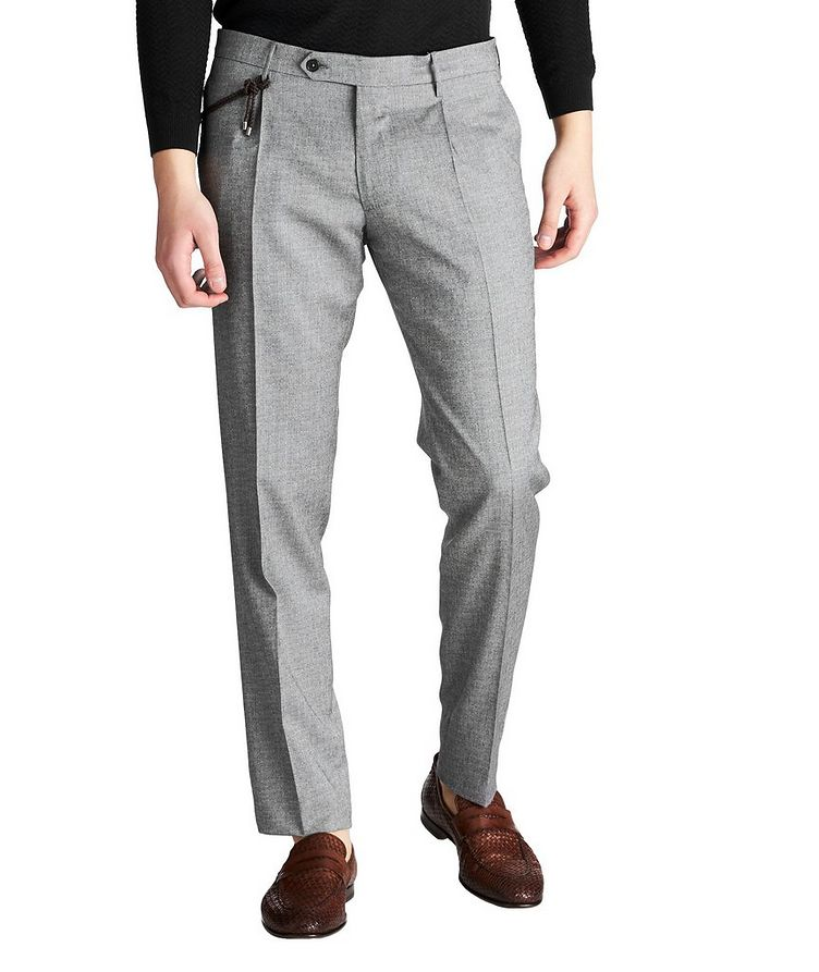 Slim Fit Textured Dress Pants image 0
