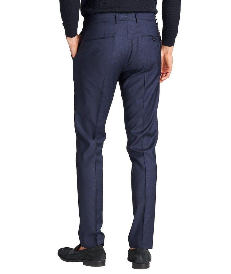 Slim Fit Textured Dress Pants image 1