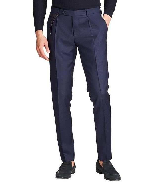 Slim Fit Textured Dress Pants picture 1