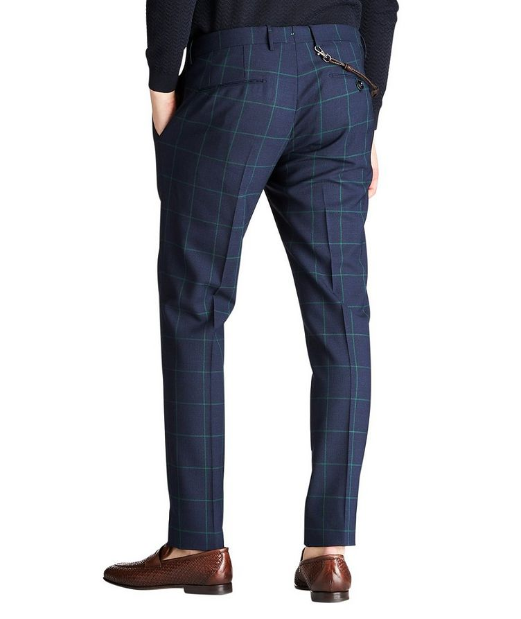Slim Fit Windowpane Dress Pants image 1