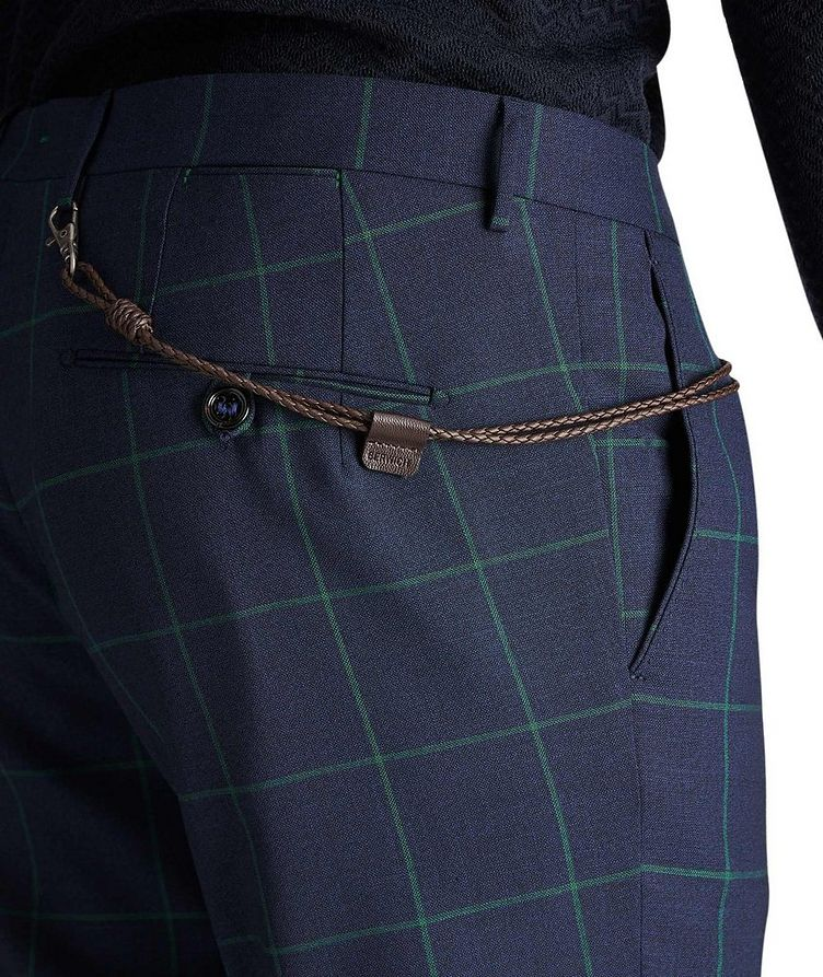 Slim Fit Windowpane Dress Pants image 2