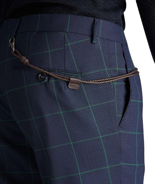 Slim Fit Windowpane Dress Pants picture 3