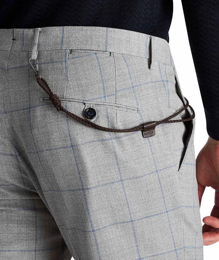 Slim Fit Windowpane Dress Pants image 2