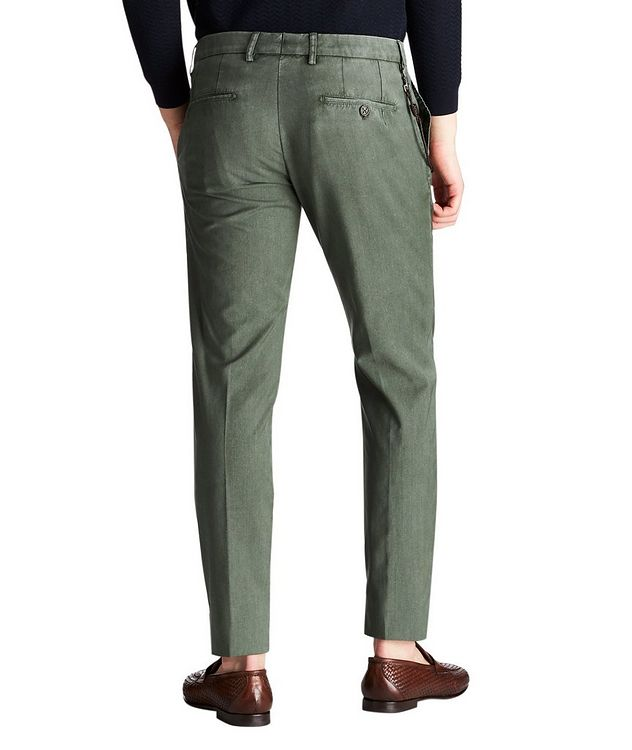 Slim Fit Plain Garment-Washed Dress Pants picture 2