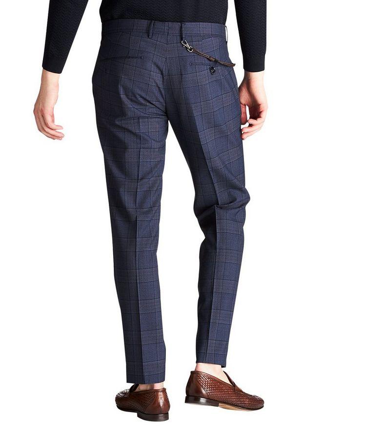 Slim Fit Windowpane Dress Pants image 1