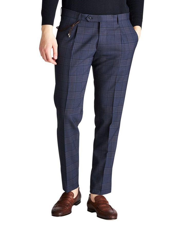 Slim Fit Windowpane Dress Pants image 0