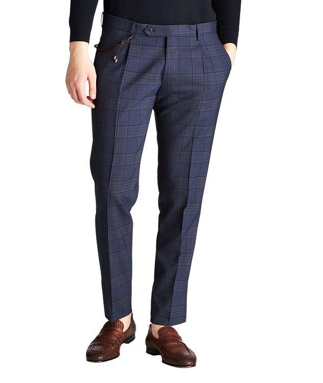 Slim Fit Windowpane Dress Pants picture 1