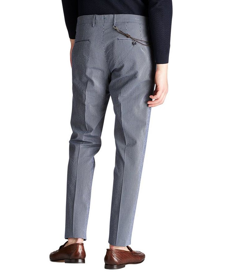 Slim Fit Striped Dress Pants image 1