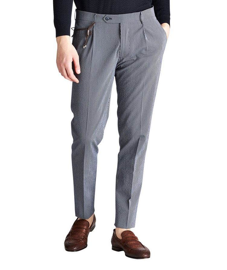 Slim Fit Striped Dress Pants image 0