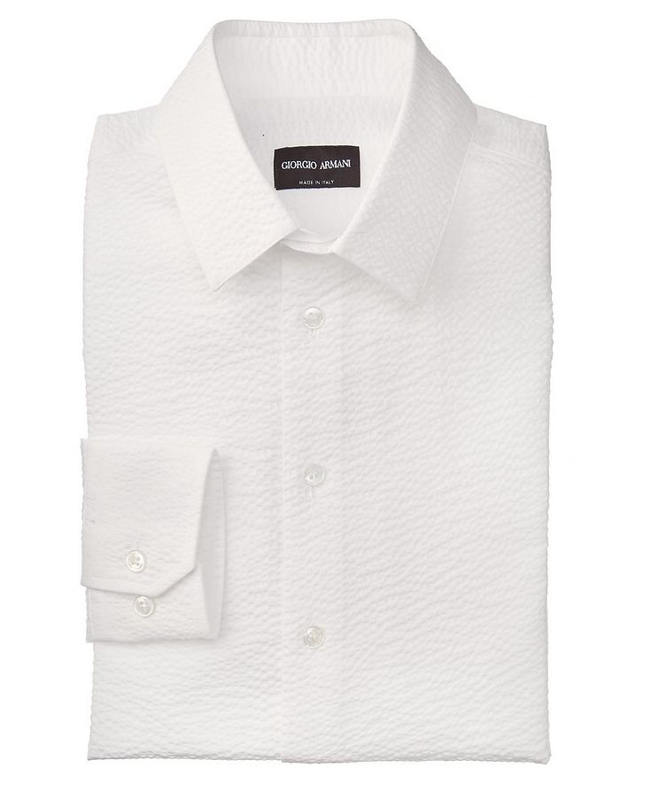 Slim-Fit Seersucker Dress Shirt image 0
