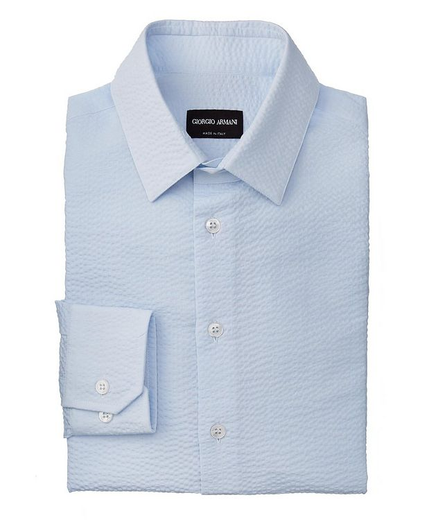 Slim-Fit Seersucker Dress Shirt picture 1