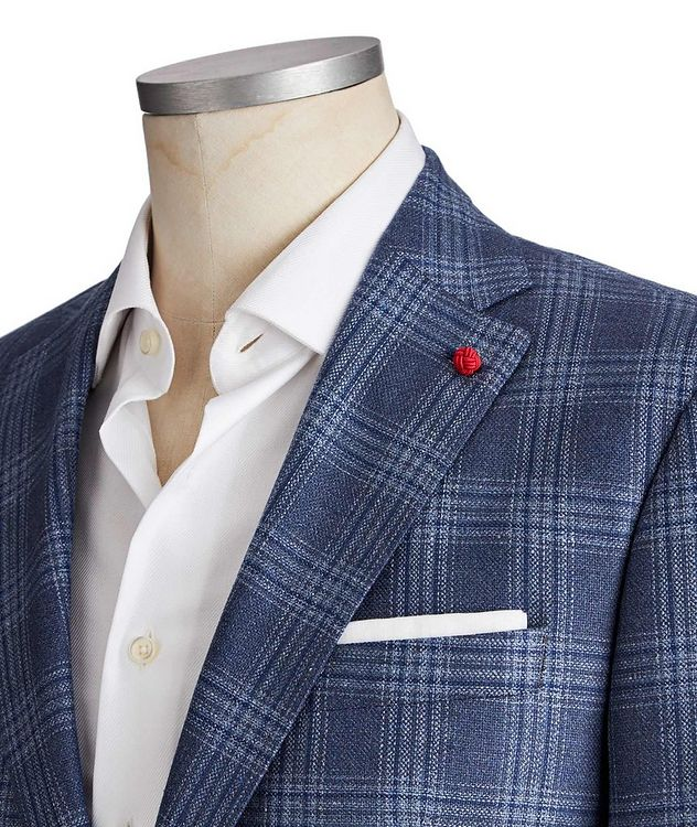 Glen Checked Silk-Wool Sports Jacket picture 2