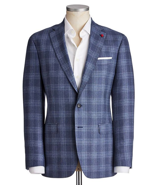 Glen Checked Silk-Wool Sports Jacket picture 1