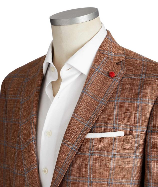 Windowpane Checked Sports Jacket picture 2