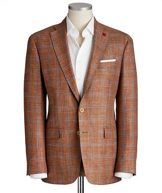 TAILORED Windowpane Checked Sports Jacket