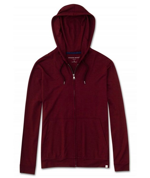 Zip-Up Stretch-Jersey Hoodie picture 1