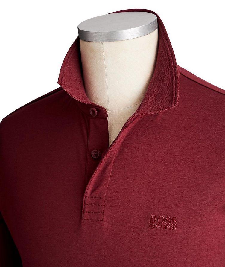 Polo en coton à manches longues image 1