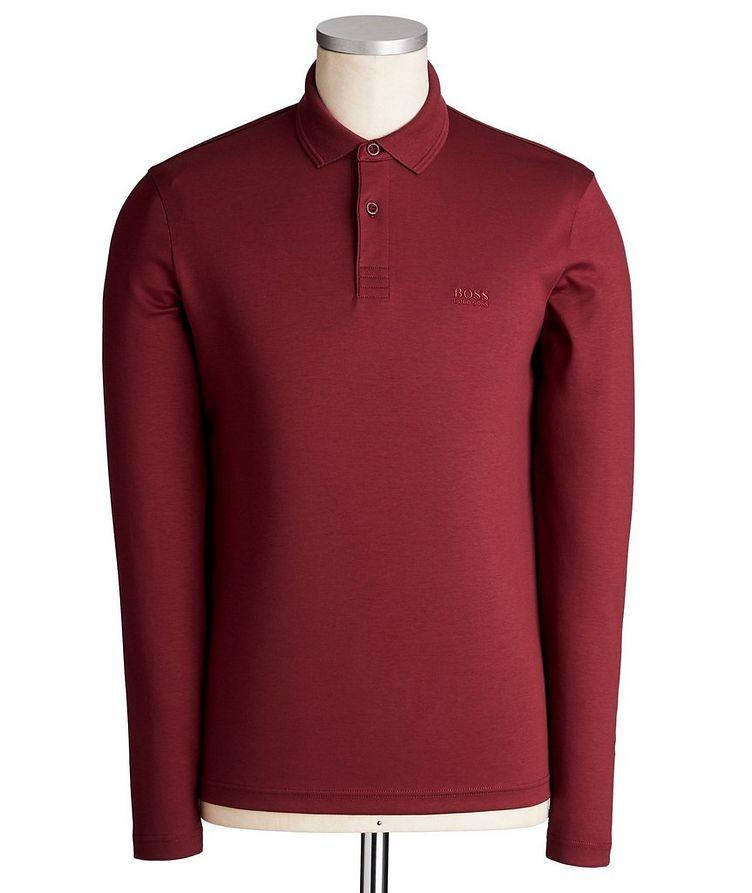 Polo en coton à manches longues image 0