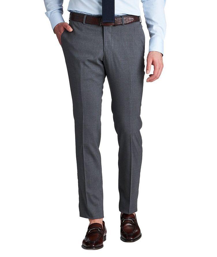 Stretch Wool & Silk Dress Pants image 0