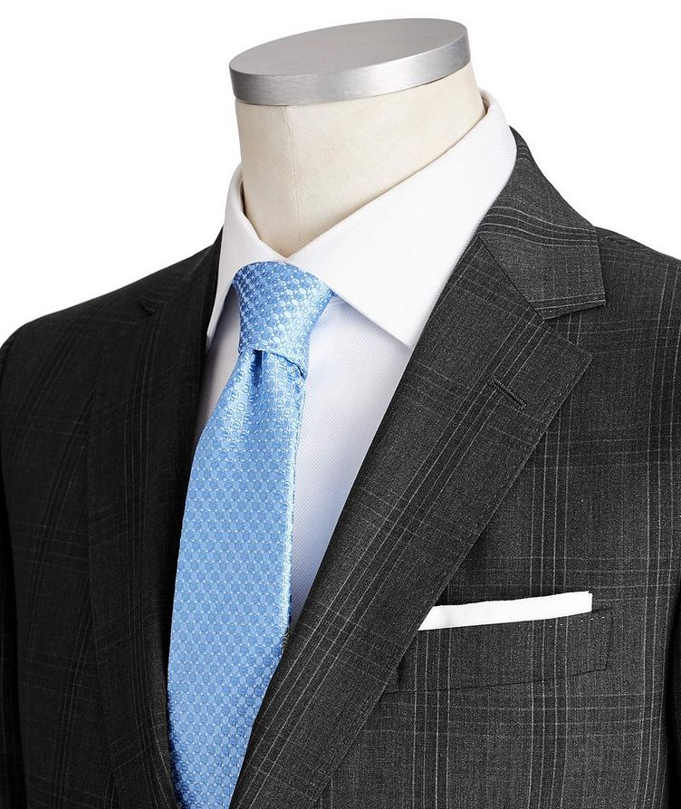 Drop 8 Checked Stretch-Wool Suit image 1