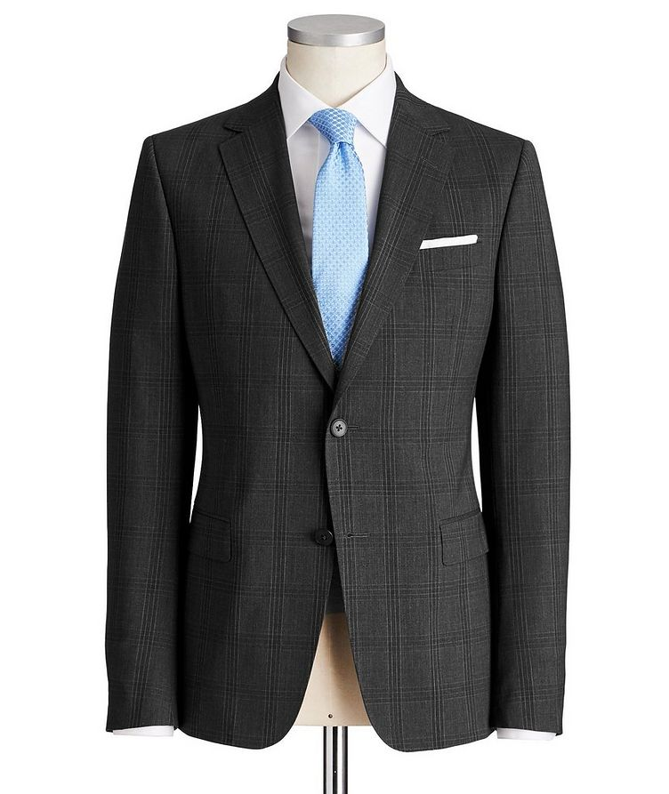 Drop 8 Checked Stretch-Wool Suit image 0