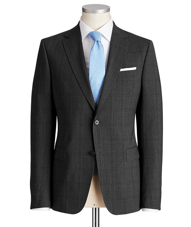 Drop 8 Checked Stretch-Wool Suit picture 1