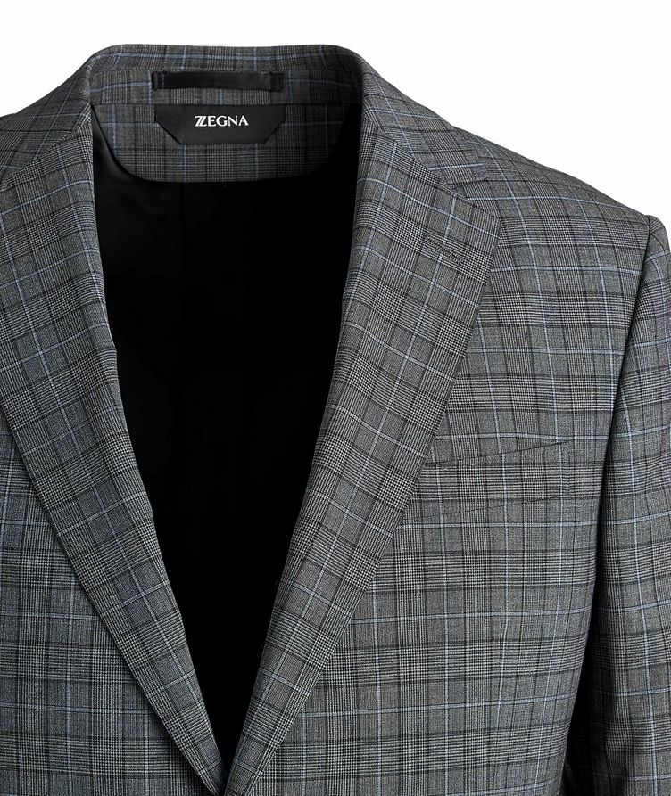 Tailor Drop 8 Windowpane Stretch-Wool Suit image 1