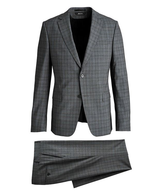 Tailor Drop 8 Windowpane Stretch-Wool Suit picture 1