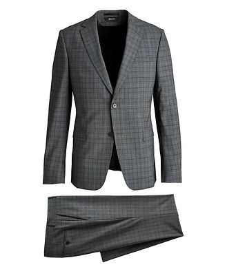 Z Zegna Tailor Drop 8 Windowpane Stretch-Wool Suit