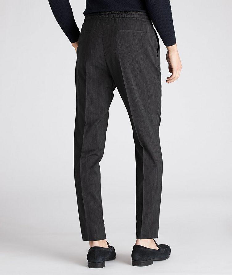 Striped Drawstring Wool Pants image 1