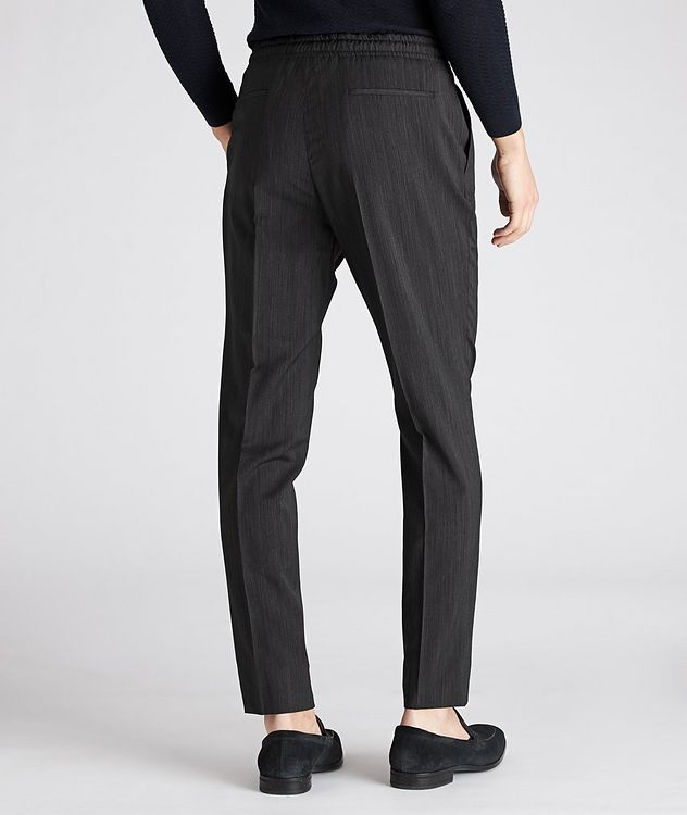 Striped Drawstring Wool Pants picture 2