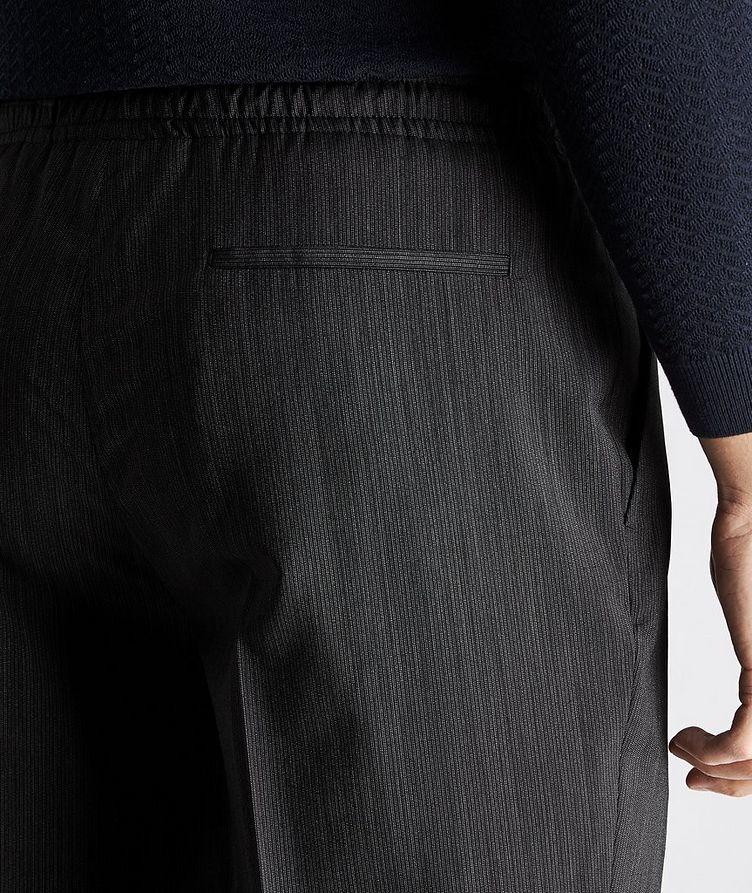 Striped Drawstring Wool Pants image 2