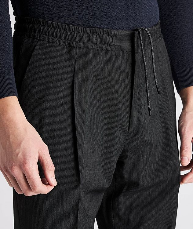 Striped Drawstring Wool Pants picture 4