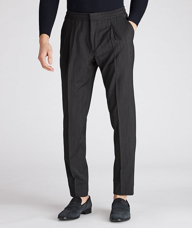 Striped Drawstring Wool Pants picture 1