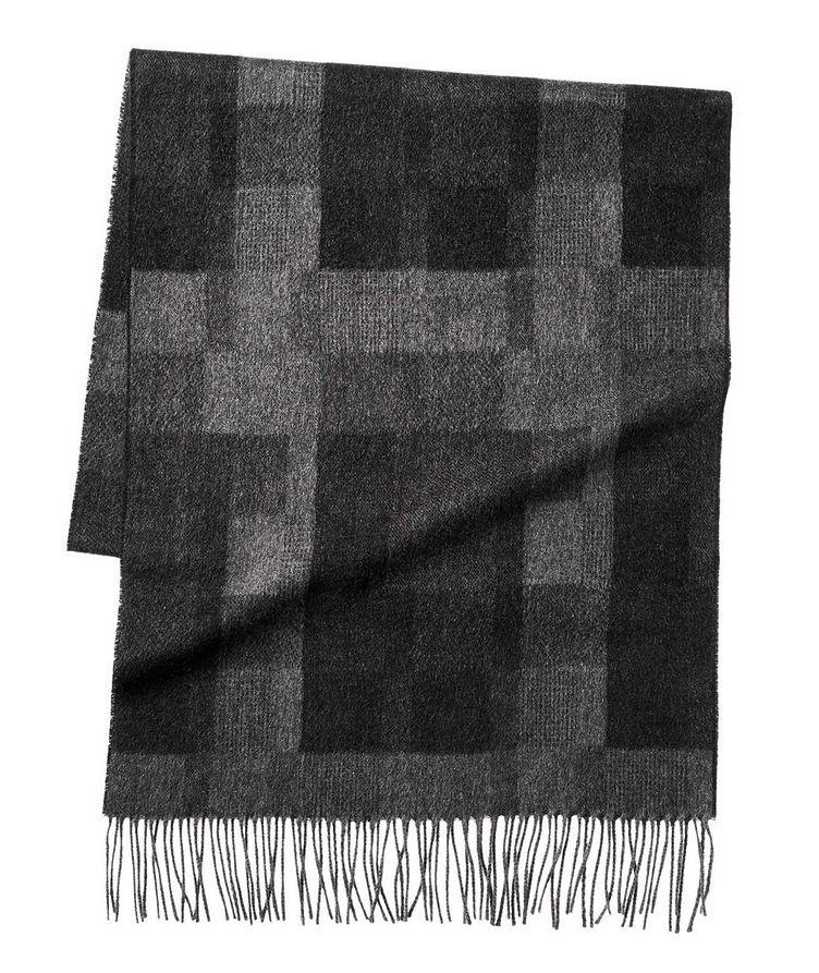 Checkered Silk Scarf image 0