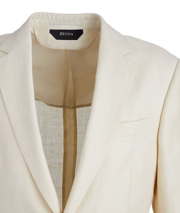 Linen Wool Textured Sports Jacket picture 3