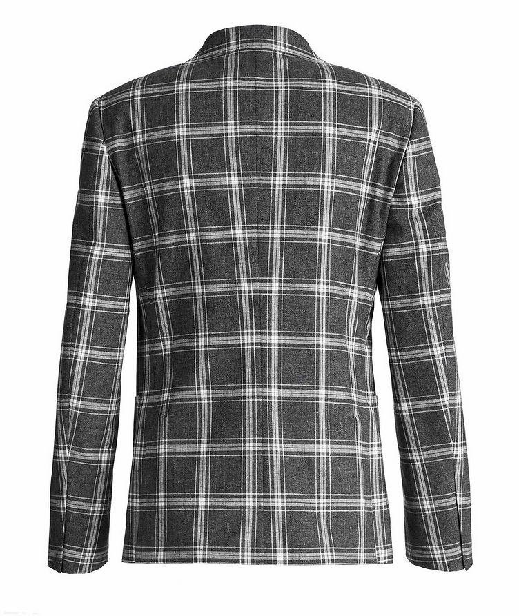 Wool, Cotton, And Linen Checked Sports Jacket image 1