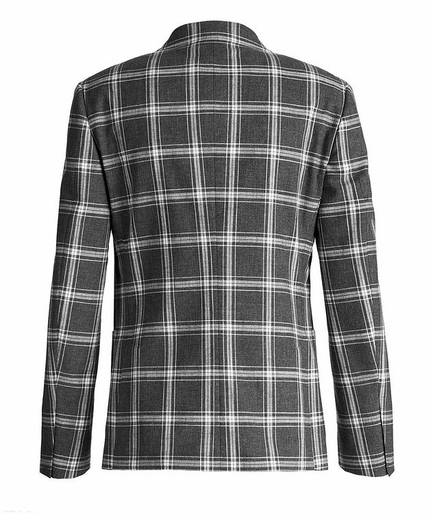 Wool, Cotton, And Linen Checked Sports Jacket picture 2