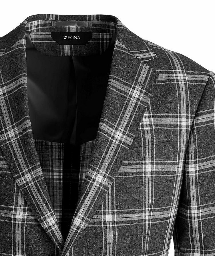 Wool, Cotton, And Linen Checked Sports Jacket image 2