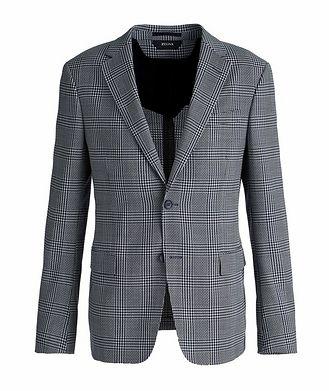 Z Zegna Deco Drop 8 Checked Stretch-Wool Sports Jacket