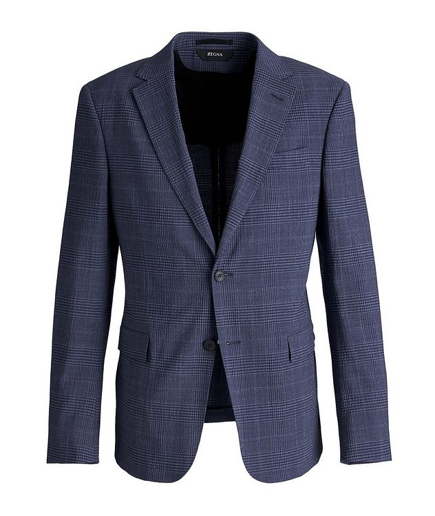 Deco Drop 8 Checked Stretch-Wool Sports Jacket picture 1