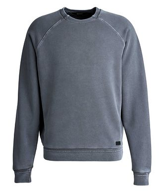 Z Zegna Washed Crew Neck Sweatshirt