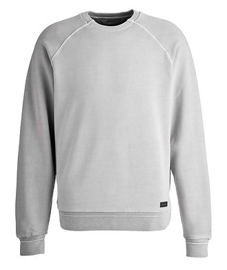 Z Zegna Washed Crew Neck Sweatshirt
