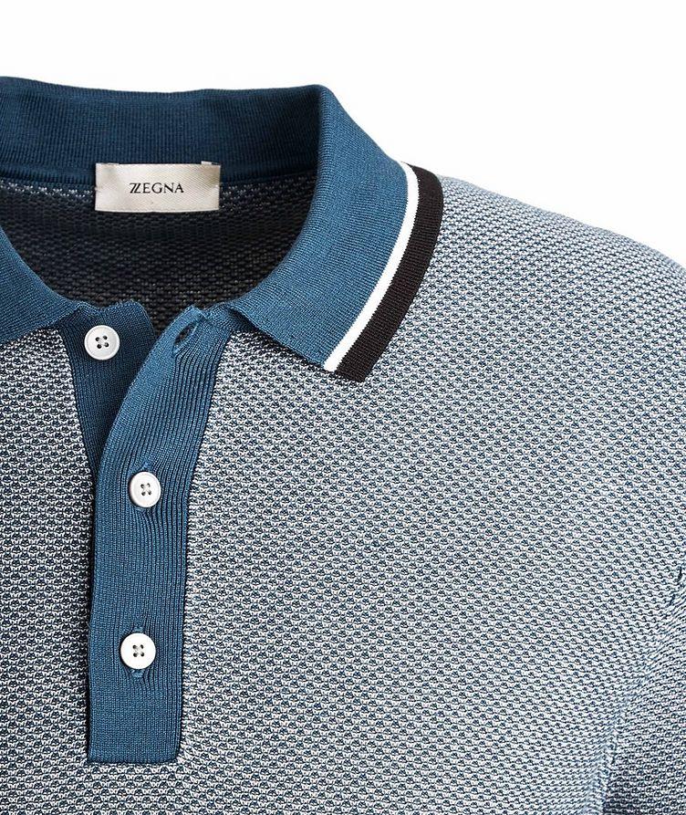 Silk-Cotton Jacquard Polo image 1