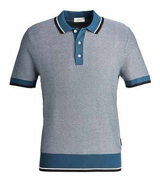 Z Zegna Silk-Cotton Jacquard Polo